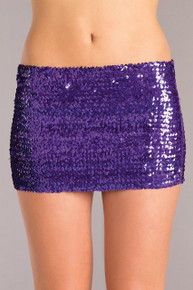 PURPLE SEQUIN SKIRT LARGE