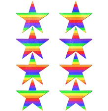 PASTEASE BODY MINIS 8PC RAINBOW STAR