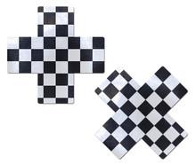 PASTEASE X BLACK & WHITE CHECKER CROSS