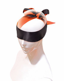 9'S ORANGE IS THE NEW BLACK SATIN SASH BLINDFOLD/RESTRAINT