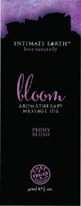 INTIMATE EARTH BLOOM MASSAGE OIL FOIL SACHET 1OZ   IE045F   [category_name]