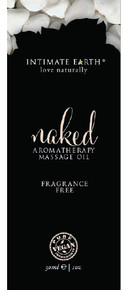 INTIMATE EARTH NAKED UNSCENTED MASSAGE OIL FOIL SACHET 1OZ
