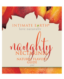 INTIMATE EARTH NAUGHTY NECTARINES GLIDE FOIL PACK 3ml (EACHES)