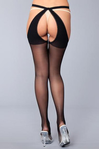 CROTCHLESS STOCKING W/ OPEN BACK O/S