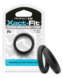 PERFECT FIT XACT-FIT #12 2 PK BLACK