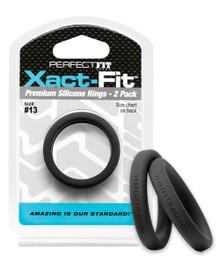 PERFECT FIT XACT-FIT #13 2 PK BLACK