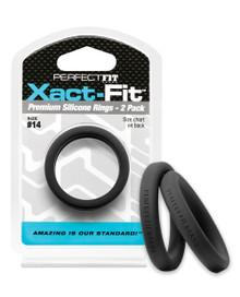 PERFECT FIT XACT-FIT #14 2 PK BLACK