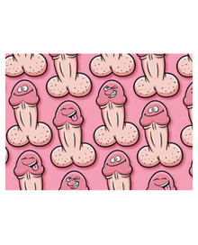 GIFT WRAP WILLY PECKER  | OZGW27 | [category_name]