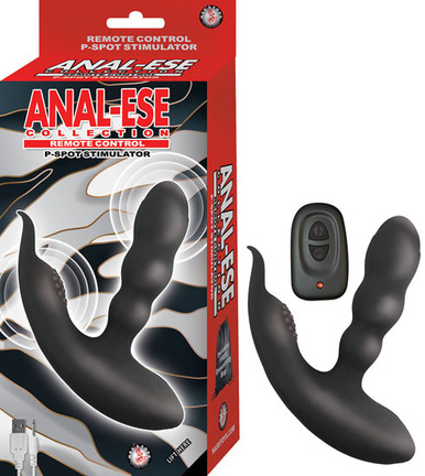 ANAL ESE COLLECTION REMOTE CONTROL P SPOT STIMULATOR BLACK | NW29011 | [category_name]