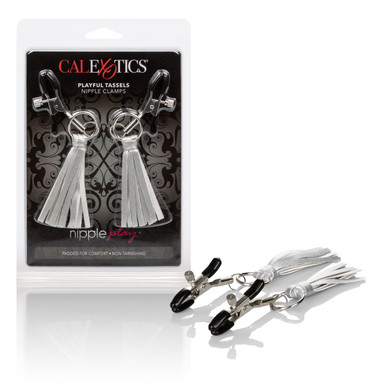 NIPPLE PLAY PLAYFUL TASSELS NIPPLE CLAMPS SILVER    SE261410   [category_name]