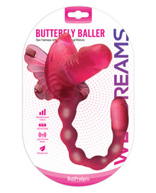 WET DREAMS BUTTERFLY BALLER SEX HARNESS W/ DILDO & DUAL MOTORS | HO3267 | [category_name]