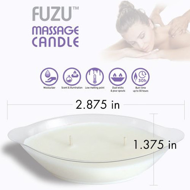 FUZU MASSAGE CANDLE LAVENDER MIST 4 OZ  | DLMCLAVE | [category_name]