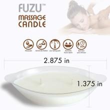 FUZU MASSAGE CANDLE WARM VANILLA SUGAR 4 OZ  | DLMCVANI | [category_name]