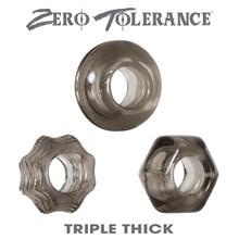 ZERO TOLERANCE TRIPLE THICK COCK RING TRIO  | ENZECR32372 | [category_name]