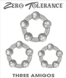 ZERO TOLERANCE THREE AMIGOS COCK RINGS  | ENZECR33122 | [category_name]