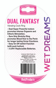 WET DREAMS DUAL FANTASY DUAL COCK RING W/ DUAL MOTORS    HO3266   [category_name]
