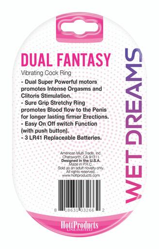 WET DREAMS DUAL FANTASY DUAL COCK RING W/ DUAL MOTORS  | HO3266 | [category_name]