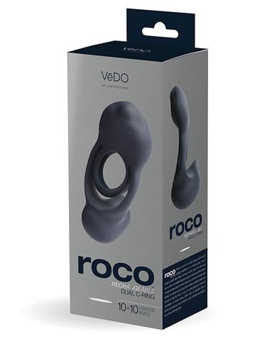 VEDO ROCO DUAL MOTOR VIBRATING RING JUST BLACK  | VIR0908 | [category_name]