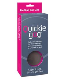 QUICKIE BALL GAG MEDIUM BLACK  | CREUSCCQGBALM | [category_name]