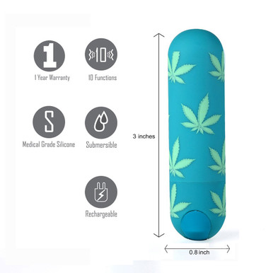 JESSI 420 10 FUNCTION MINI RECHARGEABLE BULLET EMERALD  | MTMA330LF1 | [category_name]