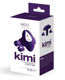 VEDO KIMI RECHARGEABLE DUAL FINGER VIBE W/ REMOTE DEEP PURPLE