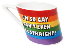 SLANTED RAINBOW MUG