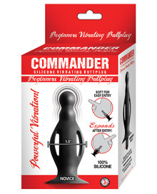 COMMANDER BEGINNERS VIBRATING BUTT PLUG SMALL