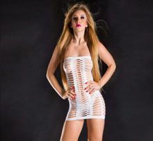 NAUGHTY GIRL TUBE DRESS WHITE O/S (NET)