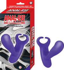 ANAL-ESE COLLECTION REMOTE CONTROL HEAT UP P SPOT & BALL STIMULATOR PURPLE