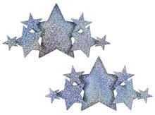 PASTEASE DEMI SILVER GLITTER STAR BREAST COVERS