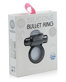 SENSUELLE SILICONE BULL RING BLACK