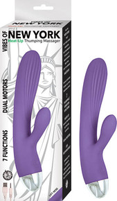 VIBES OF NEW YORK HEAT-UP THUMPING MASSAGER PURPLE