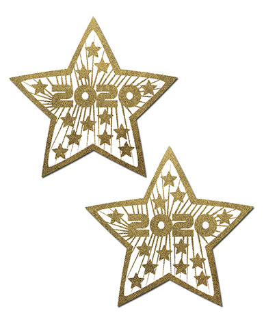 PASTEASE HAPPY NEW YEARS 2020 LIQUID GOLD & WHITE STARS    PASSTR2020   [category_name]
