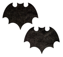 PASTEASE LIQUID BLACK BAT NIPPLE PASTIES  | PASVAMLQBK | [category_name]