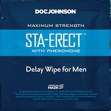 STA-ERECT DELAY WIPES W/ PHEROMONE