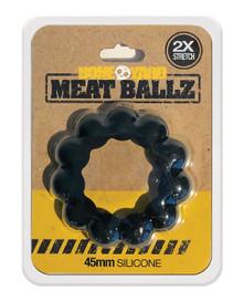 BONEYARD MEAT BALLZ 45MM COCK RING BLACK