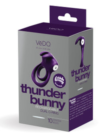 VEDO THUNDER BUNNY DUAL RING RECHARGEABLE PERFECTLY PURPLE