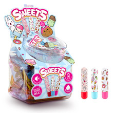 THE COLLECTION SWEETS BULLET FISHBOWL DISPLAY 36 PCS