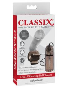 CLASSIX DUAL VIBRATING BALL TEASER SMOKE