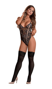 BEWITCHING CHEEKY TEDDY BLACK LARGE