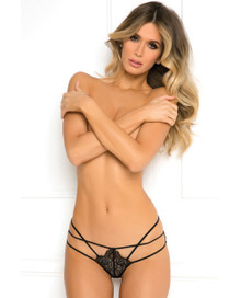 BATTING EYELASH BUTTLESS BIKINI BLACK M/L
