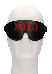 OUCH! BLINDFOLD XOXO BLACK