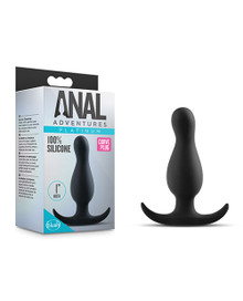 ANAL ADVENTURES PLATINUM CURVE PLUG BLACK