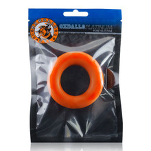 COCK-T SMALL COMFORT COCKRING ATOMIC JOCK/OXBALLS SILICONE SMOOSH ORANGE(NET)