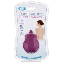 CLOUD 9 HEALTH & WELLNESS FLUTTER ORAL TONGUE STIMULATOR PLUM