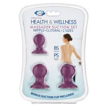 CLOUD 9 HEALTH & WELLNESS NIPPLE & CLITORAL MASSAGER SUCTION SET PLUM