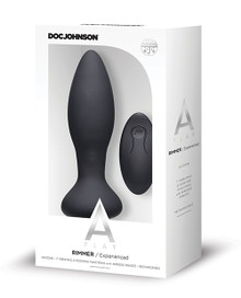A-PLAY RIMMER EXPERIENCED ANAL PLUG RECHARGEABLE W/ REMOTE BLACK