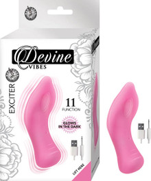 DEVINE VIBES EXCITER PINK GLOW IN THE DARK CLITORAL TEASER