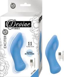 DEVINE VIBES EXCITER BLUE GLOW IN THE DARK CLITORAL TEASER