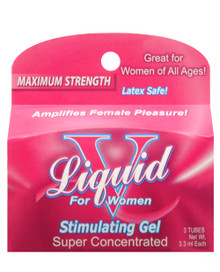 BODY ACTION LIQUID V FOR WOMEN BOX (3 PACKETS)(AROUSAL GEL)